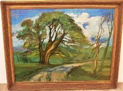 Weintráger Adolf (1927-1987) Öreg fák c. olajfestménye 90x70cm Eredeti Garanciával !!!!!