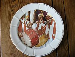 Gyűjtői TUNISIE PORCELANIE LA ROSE DES SABLES PATE DE LIMOGES nagy tányér