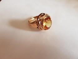 14K arany gyűrű sárga citrinnel