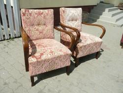 2 db Art Deco fotel szép állapotban, szakadás mentes kárpittal eladó