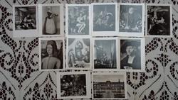 12 fekete-fehér mini fotó a Drezdai Képtár Öreg Mestereitől, 1970-ből