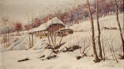 Drag.Schnur: Téli tájkép. Novi Sad /Újvidék/, 1926