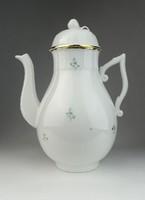 0R336 Régi virágmintás Herendi porcelán teáskanna