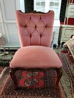 Barokk alacsony kárpitos szék