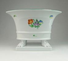 0R309 Oroszlánlábas Herendi porcelán kaspó