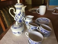 Volkstedt porcelán kávéskészlet, 6 személyes, tökéletes állapotban