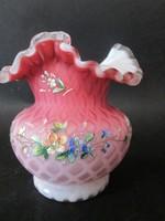 Biedermeier üveg váza pár