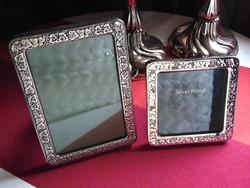 2 db régi ezüstözött képkeret