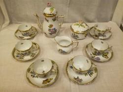 Herendi Viktória mintás porcelán kávéskészlet