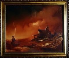ÁRKOSSY ISTVÁN - keretezett festménye