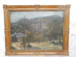 Fazekas Pál(1915-1978)Előkerült festménye.Mátrai táj.Rudnay tanítvány.