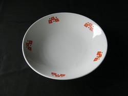 Zsolnay porcelán art deco leveses tányér