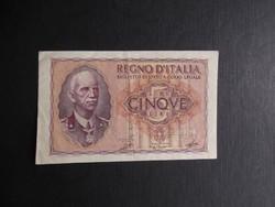 Olaszország - 5 lire én.