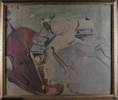 Ismeretlen művész: Szürreális szobabelső