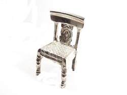 Ezüstözött kis szék(D25-Bi27549)