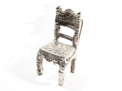 Ezüstözött kis szék(D25-Bi27548)