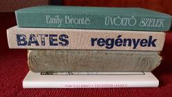 5 KÖNYV EGYÜTT,KIVÁLÓ MŰVEK,SZÉP ANTIK AJÁNDÉK, E.Bronte: Üvöltő szelek / Bates regények/ Móra F.stb