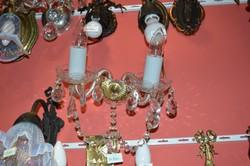 Csehszlovák kristály 2 ágú falikar