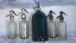 Antik szódásüvegek dekorációnak