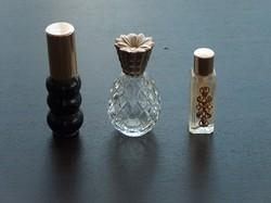 3 különleges és szép parfümös  üveg