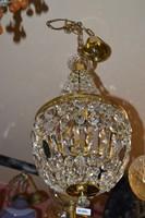 Csehszlovák kosaras kristály csillár