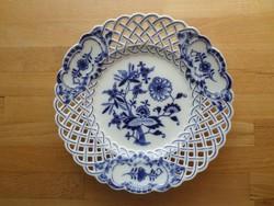 Antik áttört Meisseni tányér 23,5 cm