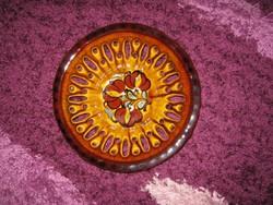 Csipkés kerámia tányér, HMVH, 26,5 cm /107/