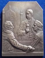Weinberger Antal: Führich, Schwind, Steinle plakett 1908, 90 x 69 mm