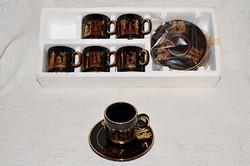 Dús aranyozású Görög kávés készlet