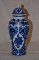 Wallendorf Echt kobalt fedeles váza