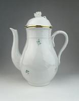 0R338 Régi virágmintás Herendi porcelán teáskanna