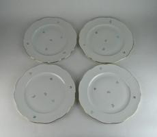 0R357 Virágmintás Herendi porcelán tányér 4 db