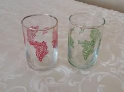 2db. üveg feles pohár