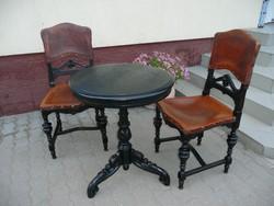 Álomszép minden porcikájában kézzel faragott bécsi barokk garnitúra - 2 szék+1 asztal