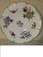 Pillangós Viktória mintás Herendi tányér háború idejéből RITKA!