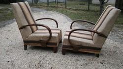Érdekes karfájú antik art deco kényelmes fotel retro huzattal 21ezer ft a KETTŐ
