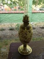 Majolika petróleumlámpa, vázalámpa, több mint 100éves
