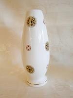 Különleges mintájú Aquincumi porcelán váza 16 cm magas
