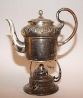 Art decó ezüstözött  teafőző