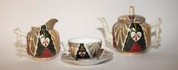 .Art deco porcelán teáskészlet 2 személyes