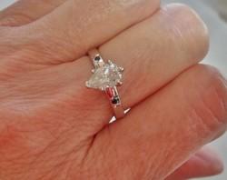 Szép valódi 1,25ct Moissanite gyémánt ezüstgyűrű 3nap!