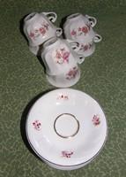 Hollóházi porcelán kávés szett