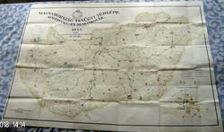 Magyarország tanügyi térképe. Középfokú és szakiskolák. 1933.