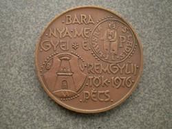 Bronz Emlékérme 1976 Pécs