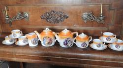 Zsolnay római mitológia mintás antik nagy teáskészlet két kiöntővel