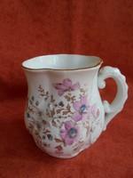 Antik porcelán virágos csésze