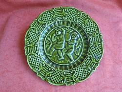 Angyal figurás majolika tányér