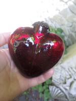 10 x 10 cm-es , vastag , repesztettüveg szív / karácsonyfadísz , vagy dekoráció