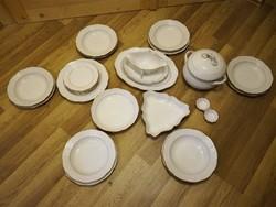 6 személyes Herendi aranyszegélyes porcelán étkészlet! ÚJ!