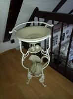 Porcelán antik mosdótál kancsóval